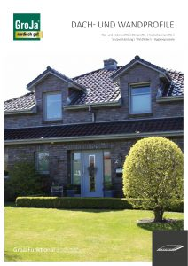 Katalogtitel GroJa Dach- und Wandprofile